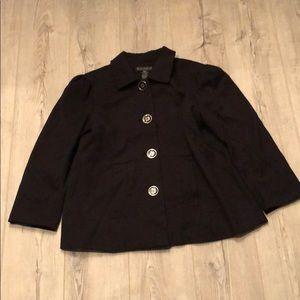 Black Dialogue Coat Size S